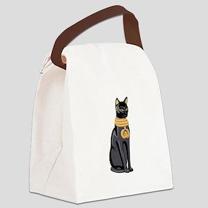 Egyptian Cat God Bastet Canvas Lunch Bag
