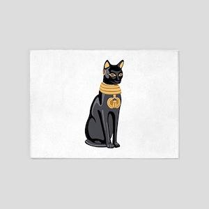 Egyptian Cat God Bastet 5'x7'Area Rug