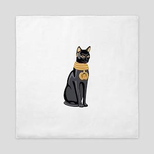Egyptian Cat God Bastet Queen Duvet