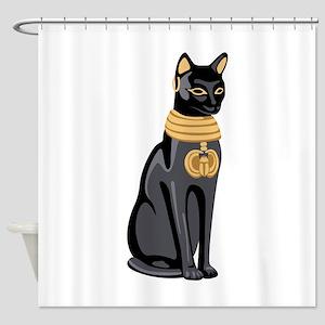 Egyptian Cat God Bastet Shower Curtain