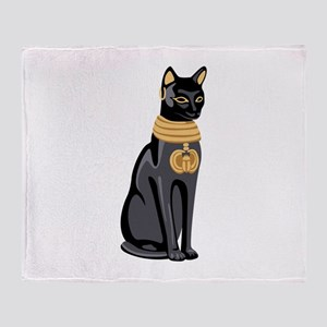 Egyptian Cat God Bastet Throw Blanket