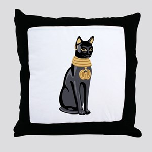 Egyptian Cat God Bastet Throw Pillow