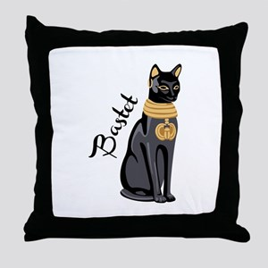Bastet Throw Pillow