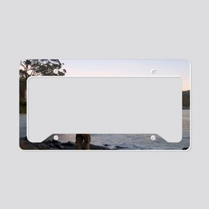 sunrise walk License Plate Holder