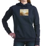 Misted Mountain River Passage Women's Hooded Sweat