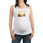 Misted Mountain River Passage Maternity Tank Top