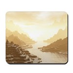 Misted Mountain River Passage Mousepad