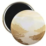 Misted Mountain River Passage Magnets