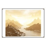 Misted Mountain River Passage Banner