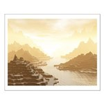 Misted Mountain River Passage Posters