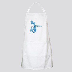 Ocean Mermaid Word Bubble in Blue Light Apron
