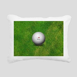 I Love Golf  Rectangular Canvas Pillow