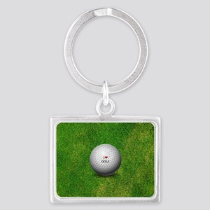 I Love Golf  Landscape Keychain