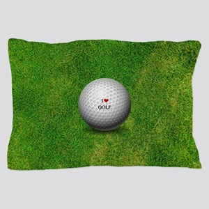 I Love Golf  Pillow Case