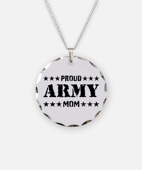 Proud Army Mom [v] Necklace