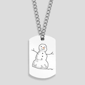 Snowman Dog Tags