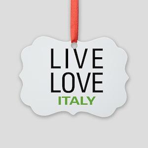 Live Love Italy Picture Ornament