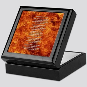 THE FIREFIGHTER'S PRAYER Keepsake Box