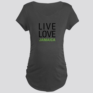 Live Love Jamaica Maternity Dark T-Shirt