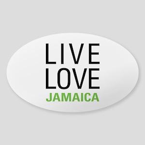 Live Love Jamaica Sticker (Oval)