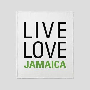 Live Love Jamaica Throw Blanket