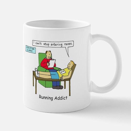 Running addict, runner in therapy. Mugs