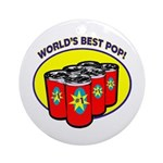 World's Best Pop Ornament (Round)