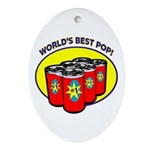 World's Best Pop Oval Ornament