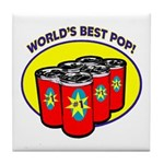 World's Best Pop Tile Coaster