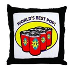 World's Best Pop Throw Pillow