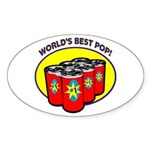 World's Best Pop Oval Sticker