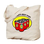 World's Best Pop Tote Bag