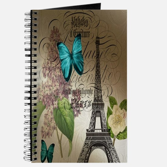 lilac butterfly eiffel tower paris postage Journal