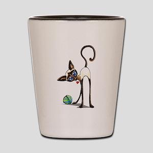 Siamese Yarn Thief Shot Glass
