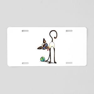 Siamese Yarn Thief Aluminum License Plate