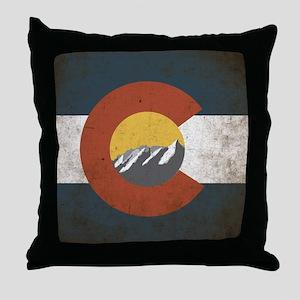 Colorado State Mountains Throw Pillow