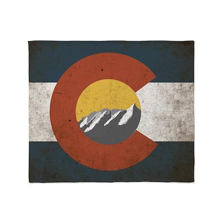Colorado State Mountains Throw Blanket