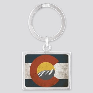 Colorado State Mountains Landscape Keychain