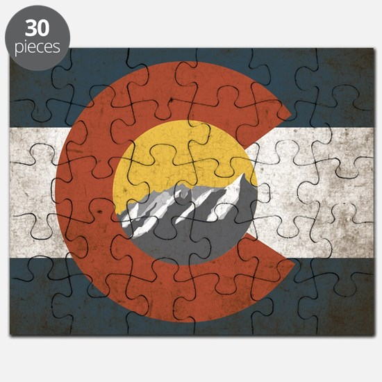 Colorado State Mountains Puzzle