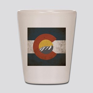 Colorado State Mountains Shot Glass