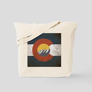 Colorado State Mountains Tote Bag