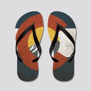 Colorado State Mountains Flip Flops