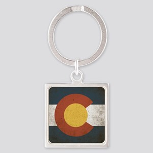 Colorado State Flag Square Keychain