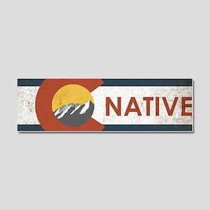 Colorado Native Red Car Magnet 10 x 3