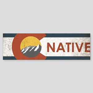 Colorado Native Red Sticker (Bumper)