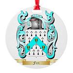 Fox 2 Round Ornament