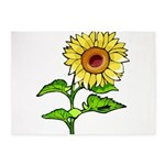 Sunflowers 5'x7'Area Rug