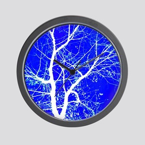 Tree with White Branches Wall Clock