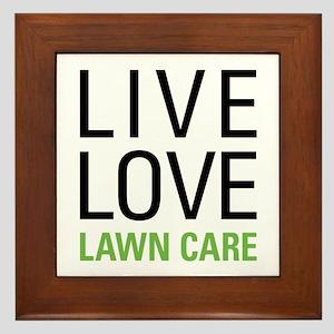 Live Love Lawn Care Framed Tile