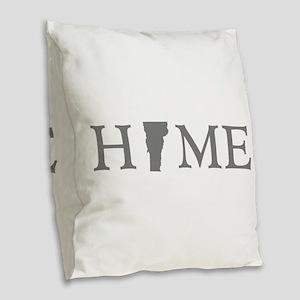 Vermont Home Burlap Throw Pillow